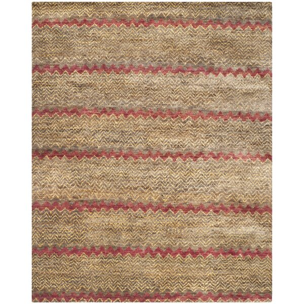 Pinehurst Brown / Gold Area Rug by Bungalow Rose