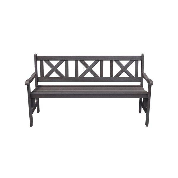 Helmsley 3-Seater Foldable Wooden Garden Bench By Gracie Oaks