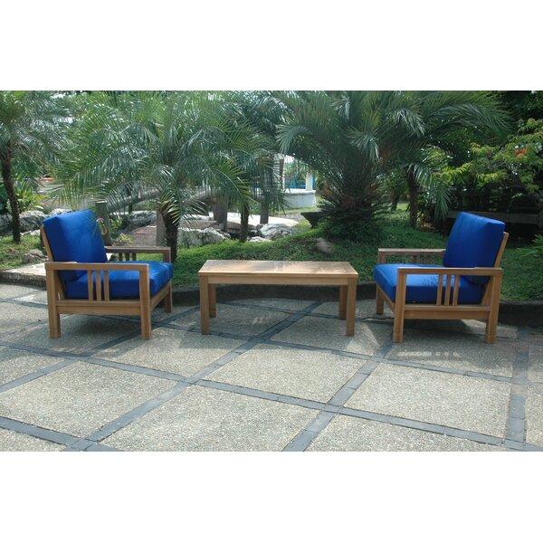 South Bay 3 Piece Teak Deep Seating Group by Anderson Teak