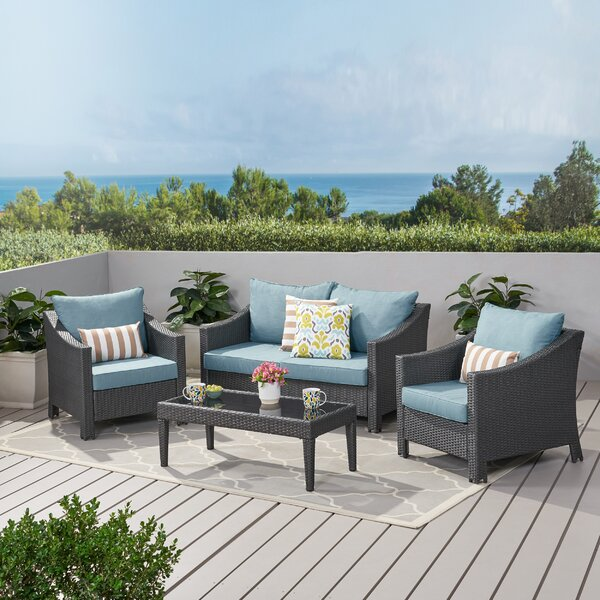 Portola 4 Piece Sofa Seating Group with Cushions by Sol 72 Outdoor