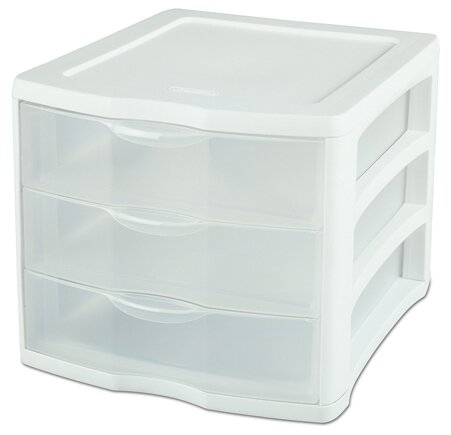 3 Drawer ClearView™ Storage Organizer (Set of 4) by Sterilite