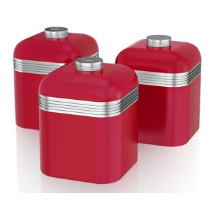 Swan Retro Kitchen Canister (Set of 3)