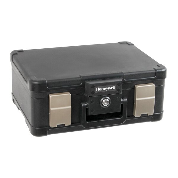 Molded Fire & Water Resistant Safety Chest in Black by HoneywellMolded Fire & Water Resistant Safety Chest in Black by Honeywell