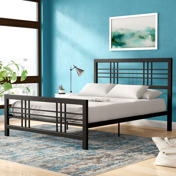Lüders Metal Platform Bed by Ebern Designs