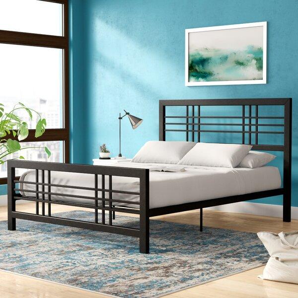 Lüders Metal Platform Bed by Ebern Designs