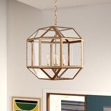 Burkeville 4-Light Candle Style Geometric Chandelier