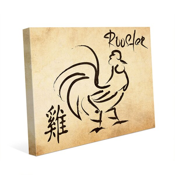 Chinese Zodiac Rooster Paper Graphic Art on Wrapped Canvas by Click Wall Art