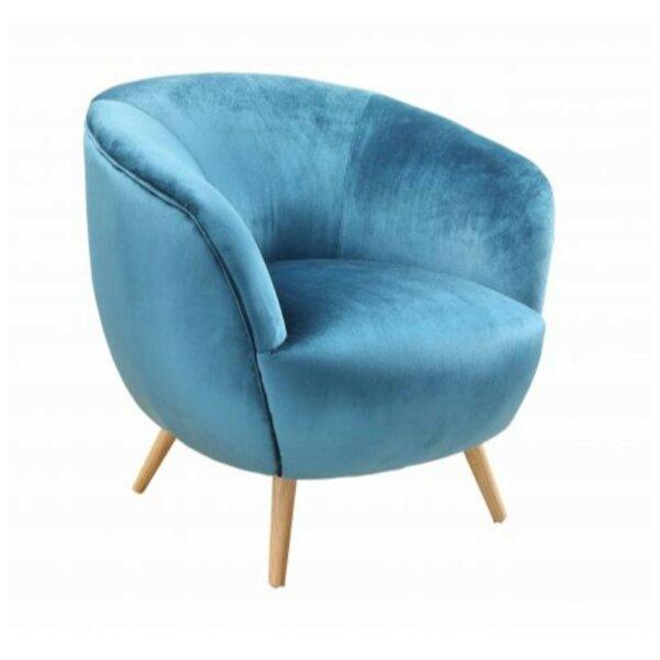 Fairview Wood Fabric Upholstery Barrel Chair by Brayden Studio