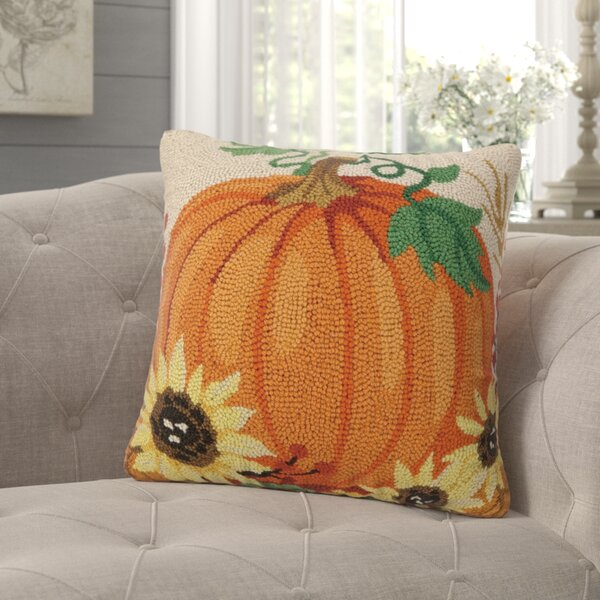 Plotkin Harvest Pumpkin Hook Throw Pillow by August Grove