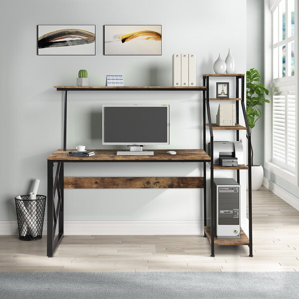 Ternate Reversible Desk With Hutch