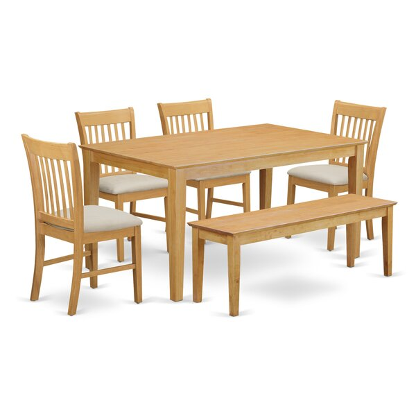 Smyrna 6 Piece Dining Set by Charlton Home Charlton Home