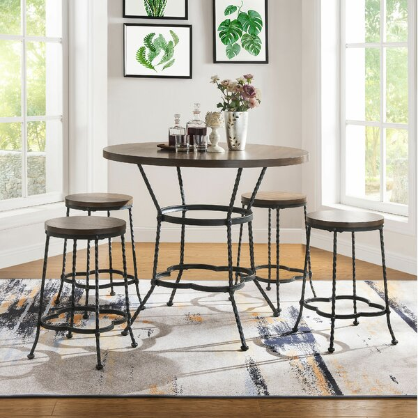 Carbon 5 Piece Pub Table Set by Fleur De Lis Living