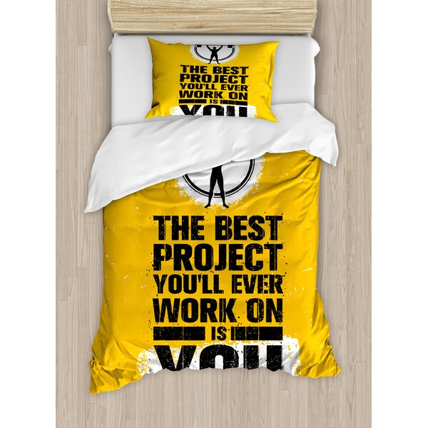The Best Project is You Phrase with Weightlifter Fit Body Concept by East Urban Home