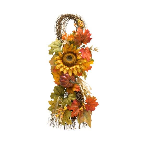 Sunflower Teardrop Swag by August Grove