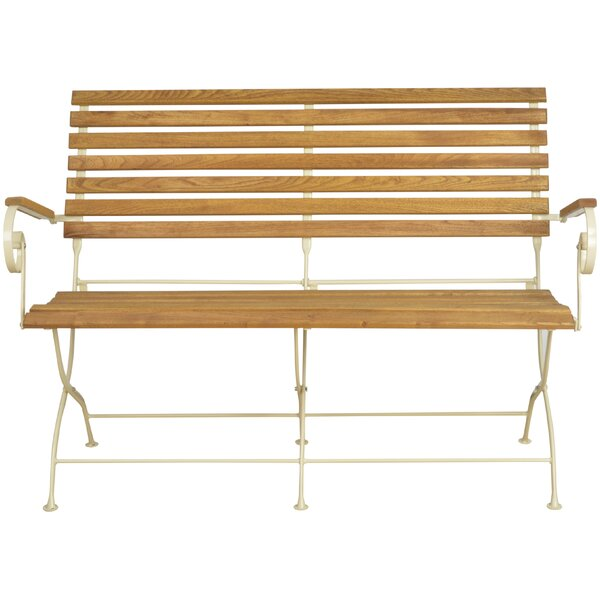 Jenna Wooden and Steel Garden Bench by Rosalind Wheeler