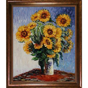 Sunflowers by Claude Monet Framed Painting by Wildon Home ®