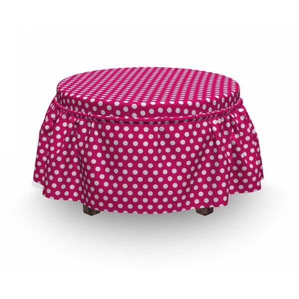 Vivid Girly D Ottoman Slipcover (Set Of 2) By East Urban Home