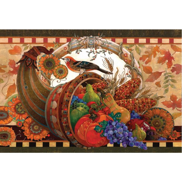 Horn of Plenty Doormat by The Holiday Aisle