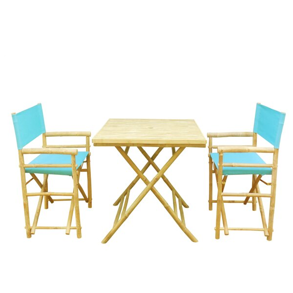 Despina Bamboo 3 Piece Bistro Set by Highland Dunes