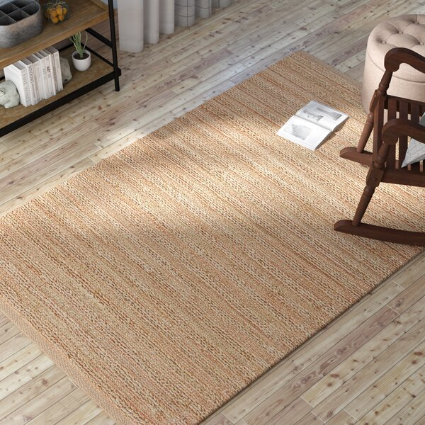 Branchburg Hand-Woven Tan/Rust/Rose Area Rug by Gracie Oaks