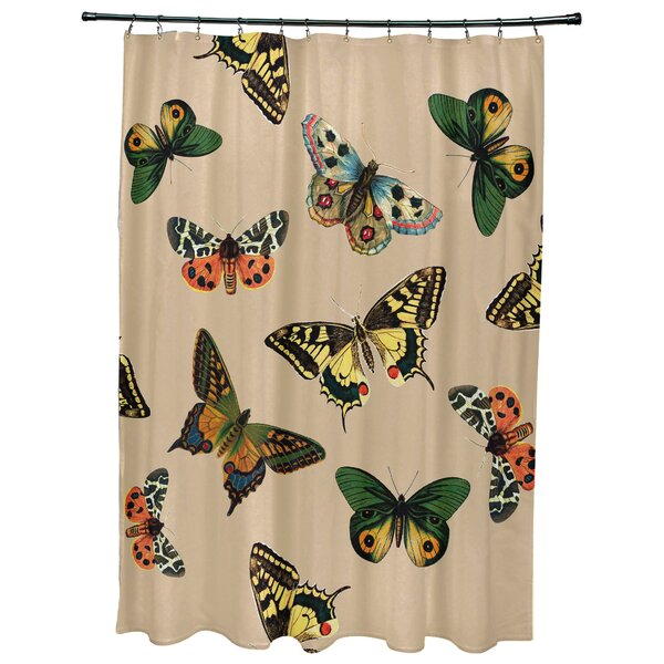Swan Valley Butterflies Animal Print Shower Curtain by August Grove