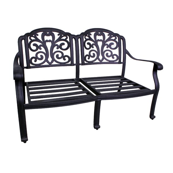 Thurston Aluminum Garden Bench by Fleur De Lis Living