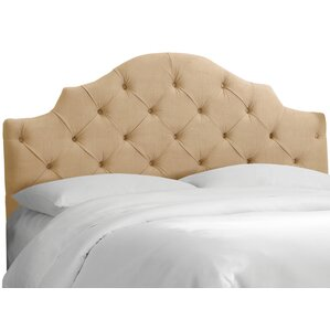 Karissa Tufted Velvet Upholstered Headboard by Skyline Furniture