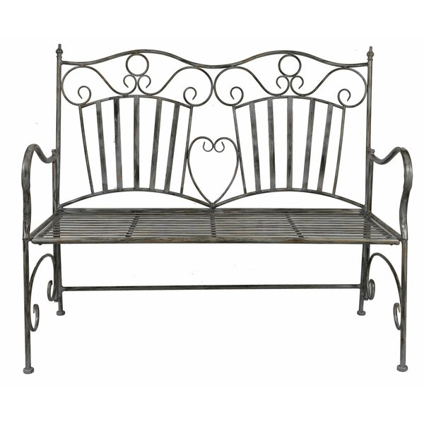 Falcone Metal Garden Bench by August Grove