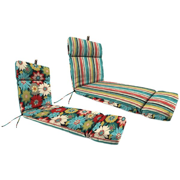 Reversible Indoor/Outdoor Chaise Lounge Cushion by Andover Mills
