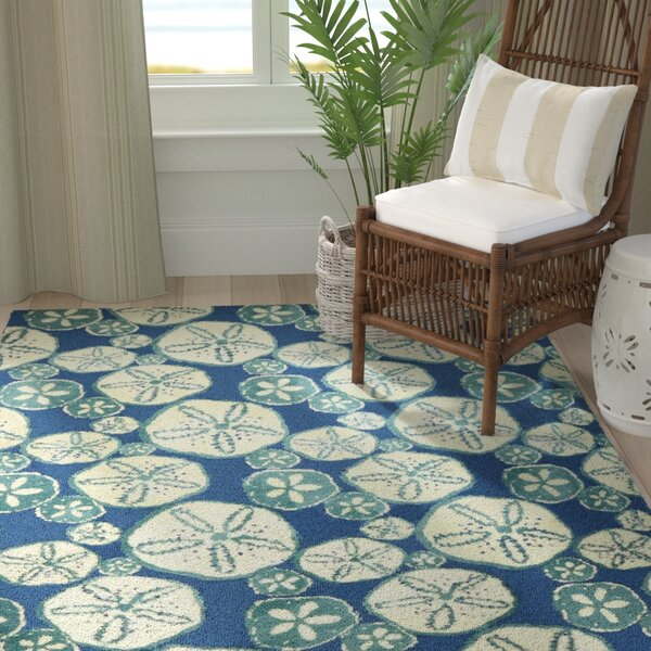 Nhung Sand Dollars Blue Area Rug by Highland Dunes