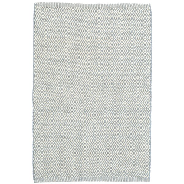 Crystal Swedish Blue/White Indoor/Outdoor Area Rug by Dash and Albert Rugs