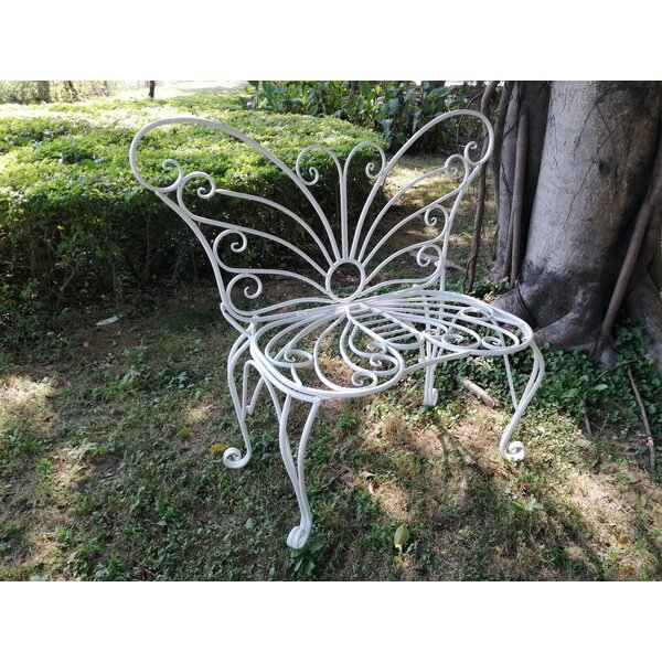 WHITE METAL GARDEN BUTTERFLY CHAIR by Hi-Line Gift Ltd. Hi-Line Gift Ltd.