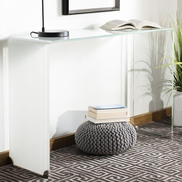 Patio Furniture Euphemia Ombre Glass Console Table