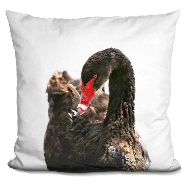 Swan Throw Pillow by East Urban Home