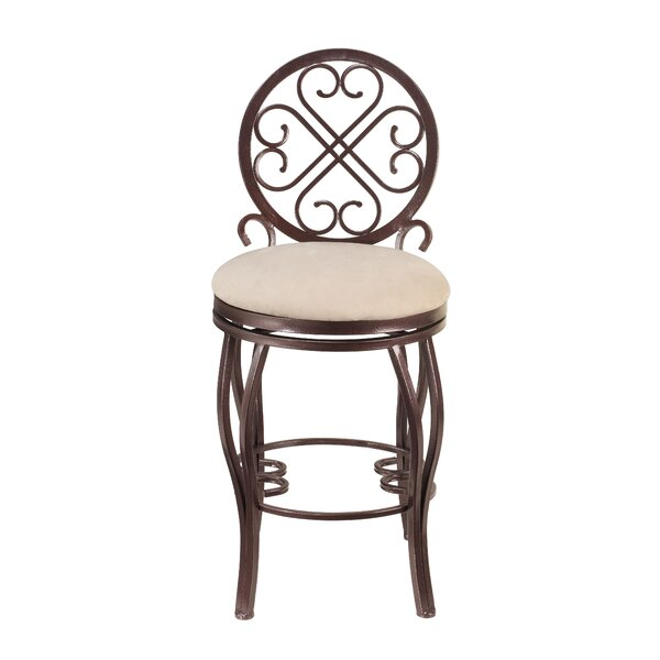 Delores 30 Swivel Bar Stool by Fleur De Lis Living