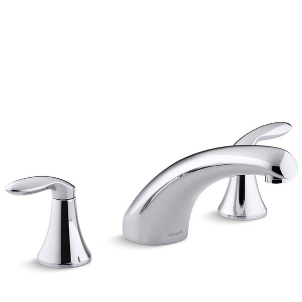 Coralais Deck-Mount Bath Faucet Trim with 8 Spout and Lever Handles, Valve Not Included by Kohler