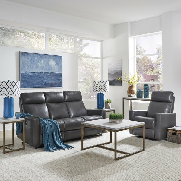 Pell Power Motion Reclining 2 Piece Leather Living Room Set by Latitude Run