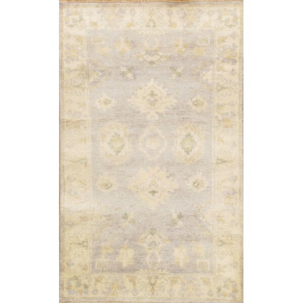 Oushak Hand-Knotted Ivory Area Rug by Pasargad NY