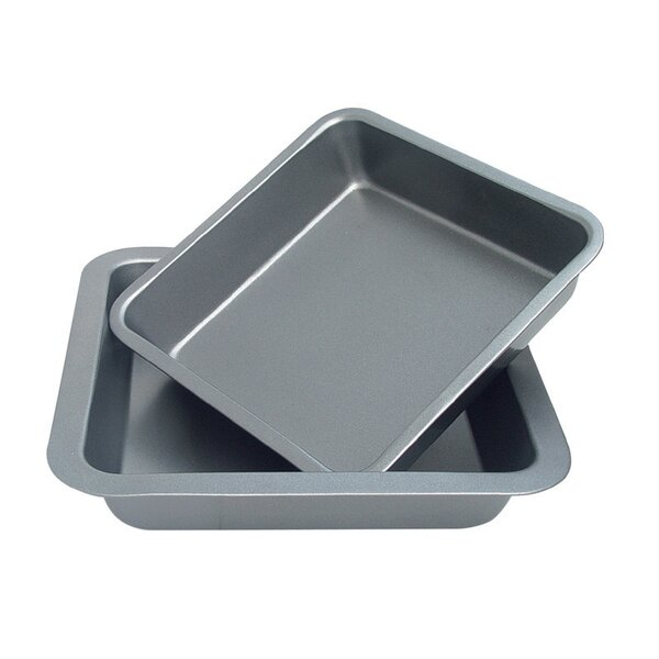 2 Piece Square Cake Pan Set by Culinary Edge