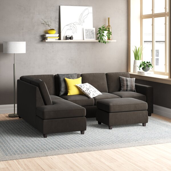 Barksdale Reversible Sectional with Ottoman by Zipcode Design