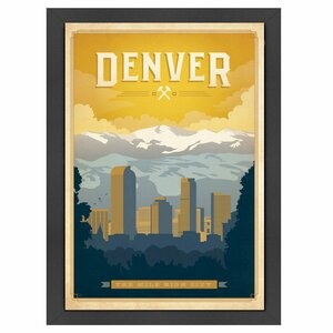 Denver Framed Vintage Advertisement by East Urban Home