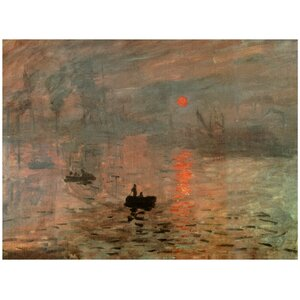 'Impression Sunrise' by Claude Monet Painting Print on Wrapped Canvas by Oriental Furniture