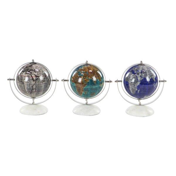 Modern and Marble Pop Art Globe (Set of 3) by Latitude Run