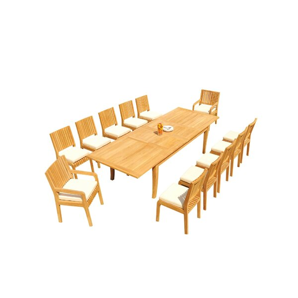 Masson 13 Piece Teak Dining Set By Rosecliff Heights by Rosecliff Heights New Design
