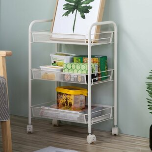 Find for Annette 3-Tier Rolling Mesh Wire Steel Baker's Rack Best Deals