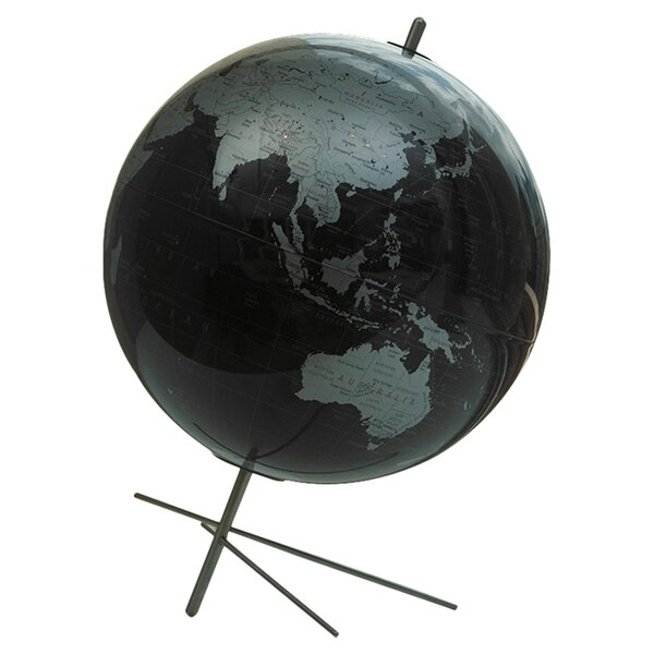 Mikado Slate Gray World Globe by Replogle Globes