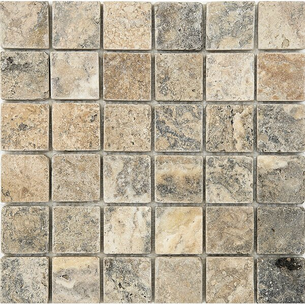 2 x 2 Stone Mosaic Tile in Antico Tumbled by Parvatile