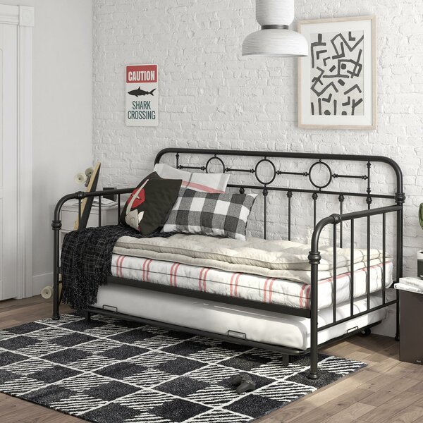 Willow Metal Twin Bed with Trundle by Little Seeds