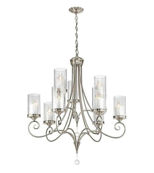 Bigler 9 - Light Shaded Classic / Traditional Chandelier By Darby Home Co