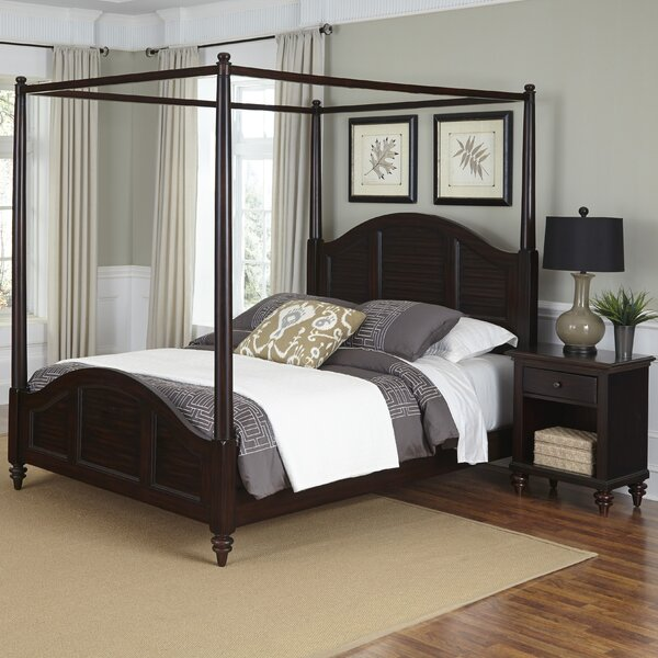 Harrison Traditional Canopy 2 Piece Bedroom Set by Beachcrest Home